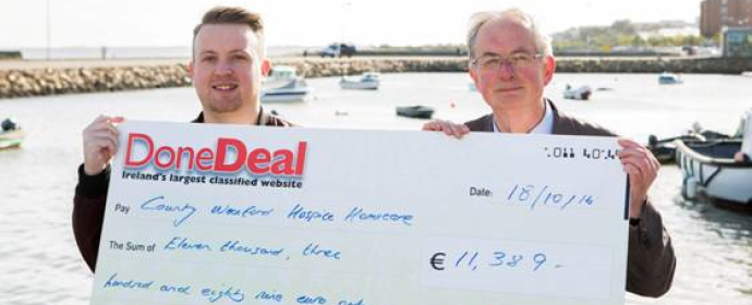 DoneDeal Charity Cheque Presentation